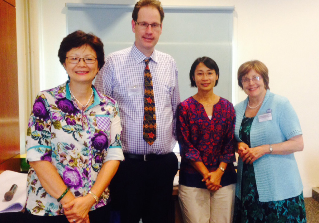 Trainers at the recent workshop in Malaysia included Dr Chong Lee Ai, Dr Anthony Herbert and Joan Marston