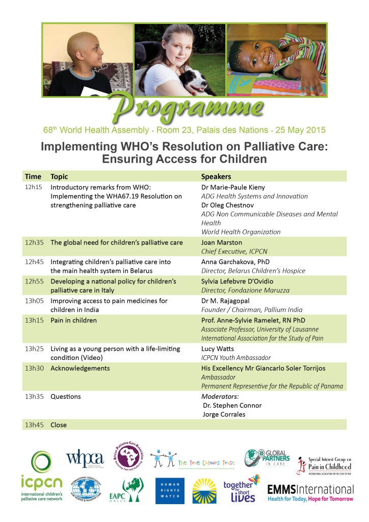 Programme or WHA Side Event