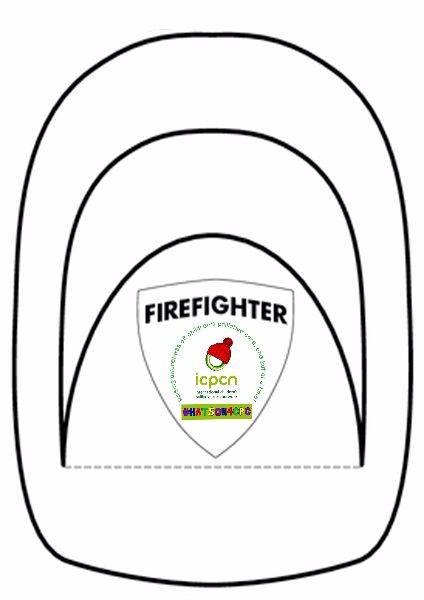 Hat templates for hatson4cpc icpcn for Firefighter hat template preschool