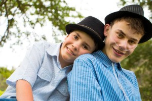 Matthew and his younger brother, who lives with Prader-Willi syndrome